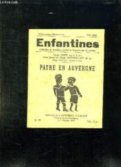 Enfantines N° 77 Mai 1936. Patre En Auvergne. - Couverture - Format classique