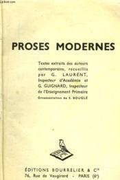 Proses Modernes - Couverture - Format classique