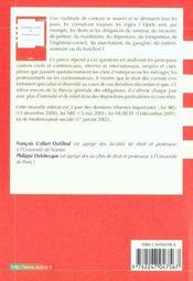 Contrats Civils Et Commerciaux ; 6e Edition - 4ème de couverture - Format classique
