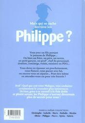 L'encyclopédie des prénoms t.8 ; Philippe - 4ème de couverture - Format classique