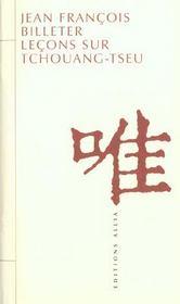 Leçons sur Tchouang-Tseu - Intérieur - Format classique
