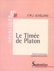 Le timee de platon - Intérieur - Format classique