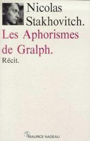 Les aphorismes de Gralph - Couverture - Format classique
