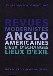 Revues modernistes anglo-américaines ; lieux d'échanges lieux d'exil - Intérieur - Format classique