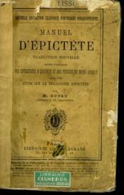 Manuel D'Epictete - Couverture - Format classique