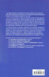 Les referentiels - niveau b2 - livre + cd audio - 4ème de couverture - Format classique