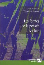 Les formes de la pensee sociale - Intérieur - Format classique