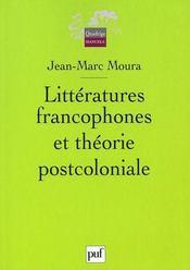 Littératures francophones et théorie postcoloniale - Intérieur - Format classique