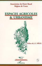 Espaces Agricoles Et Urbanisme - Intérieur - Format classique