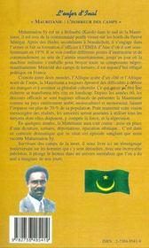 L'Enfer D'Inal ; Mauritanie : L'Horreur Des Camps - 4ème de couverture - Format classique