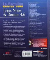 Lotus Notes Et Domino 4.6 - 4ème de couverture - Format classique