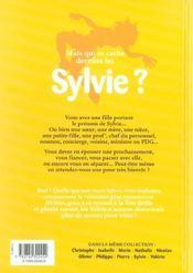 L'encyclopédie des prénoms t.10 ; Sylvie - 4ème de couverture - Format classique