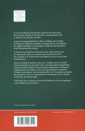 Code Des Societes ; Et Autres Dispositions Relatives Au Droit Des Entreprises ; Edition D'Octobre 2001 - 4ème de couverture - Format classique