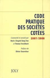 Code pratique des sociétés côtées - Couverture - Format classique