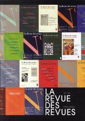 REVUE DES REVUES ; la revue des revues n.39 ; 1986-2006 - Intérieur - Format classique