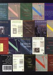 REVUE DES REVUES ; la revue des revues n.39 ; 1986-2006 - 4ème de couverture - Format classique
