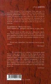 Poelitis N.22 ; Ceux Qui Préfèrent Ne Pas - 4ème de couverture - Format classique