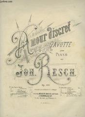 Amour Discret - Gavotte Pour Piano. - Couverture - Format classique