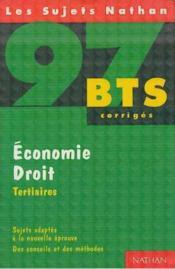 Economie - Droit (Tertiaires) - Couverture - Format classique