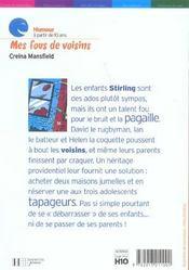 Mes Fous De Voisins - 4ème de couverture - Format classique