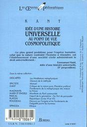 Idée d'une histoire universelle au point de vue cosmopolitique - Kant, Immanuel ; Muglioni, Jean ...