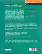 Immunologie clinique - 4ème de couverture - Format classique
