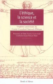 Ethique La Science Et La Societe - Intérieur - Format classique