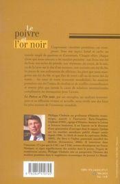 Le poivre et l'or noir - 4ème de couverture - Format classique