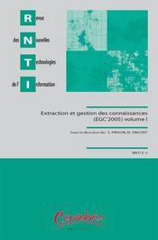 Rnti t.1 et t.2 ; extraction et gestion des connaissances - Intérieur - Format classique