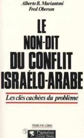 Le Non Dit - Le Conflit Israel - Couverture - Format classique