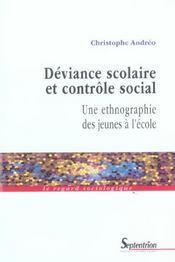 Deviance scolaire et controle social - Intérieur - Format classique