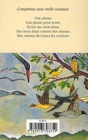 Comptines au mille oiseaux - 4ème de couverture - Format classique