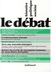 Revue Le Débat N.152 ; novembre-décembre 2008 - Couverture - Format classique