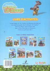 Nos Voisins Les Hommes ; Livre D'Activites - 4ème de couverture - Format classique