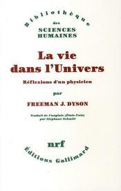 La vie dans l'univers ; réflexions d'un physicien - Couverture - Format classique