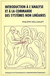 Introduction à l'analyse et à la commande des systèmes non linéaires - Couverture - Format classique
