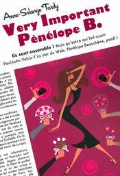 Very important Penelope B. - Couverture - Format classique