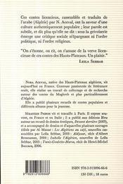 Contes libertins du Maghreb - 4ème de couverture - Format classique