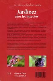 Jardinez avec les insectes - 4ème de couverture - Format classique