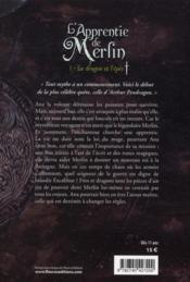 L'apprentie de Merlin t.1 ; le dragon et l'épée - 4ème de couverture - Format classique