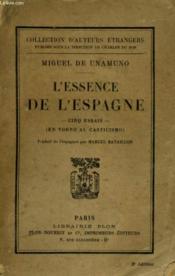 L'Essence De L'Espagne, Cinq Essais (En Torno Al Casticismo) - Couverture - Format classique