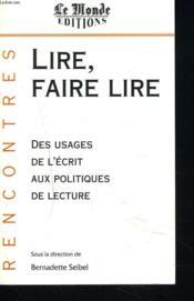 Lire?Faire Lire - Couverture - Format classique