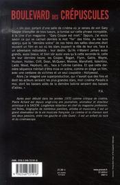 Boulevard des crépuscules - 4ème de couverture - Format classique