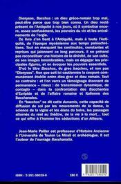 Bacchus,figures & pouvoirs - 4ème de couverture - Format classique