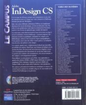 Indesign cs - 4ème de couverture - Format classique