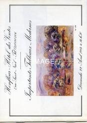 IMPORTANTS TABLEAUX MODERNES. ATELIER HENRI CHARRIER. [ GERNEZ. BOUDIN. FILLON. KISLING. DENIS. VALTAT. PUY. PELOUZE. CAMOIN. SAINT-DELIS. GUILLAUMIN. MAREVNA. MACLET. MANE KATZ.]. 22/04/1984. (Poids de 36 grammes) - Intérieur - Format classique