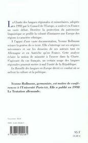 La bataille des langues en europe - 4ème de couverture - Format classique