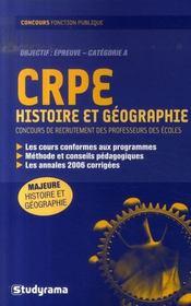 Crpe ; Histoire Et Geographie - Intérieur - Format classique