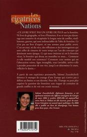 Les cicatrices des nations - 4ème de couverture - Format classique