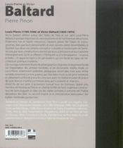 Louis-Pierre et Victor Baltard - 4ème de couverture - Format classique